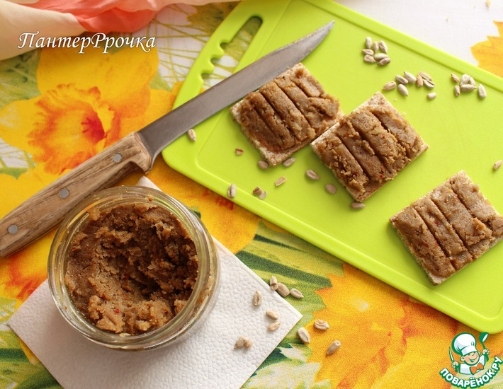 Рецепт: Паста из гороха и семечек подсолнечника