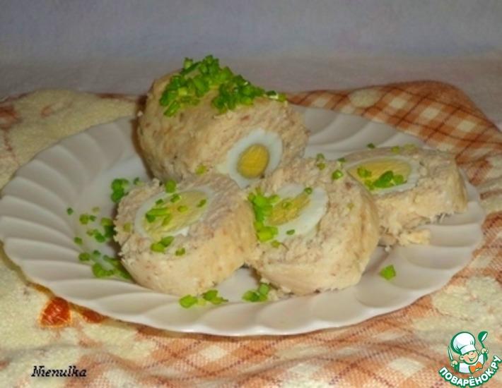 Рецепт: Рыбный рулет с яйцом