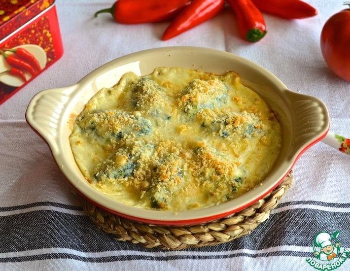 Рецепт: Клецки из творога со шпинатом