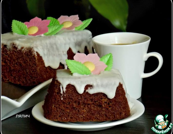 Рецепт: Быстрый шоколадный кекс в микроволновке
