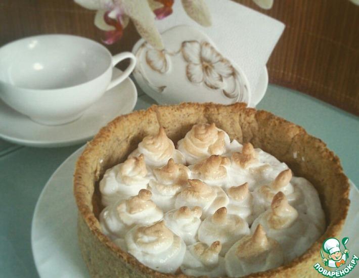 Рецепт: Карамельный пирог с меренгой