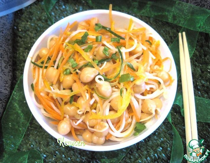 Рецепт: Салат с пророщенным нутом