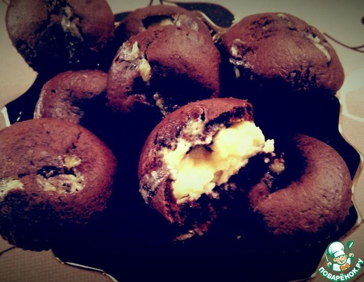 Рецепт: Шоколадно-сливочные маффины
