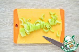 My celery stalks. Cut.