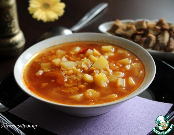 Рецепт: Изумительно ароматный гороховый суп