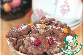 Рецепт: Медово-фасолевое печенье с орешками