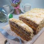 Торт с кремом из ряженки Квартет