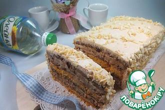Рецепт: Торт с кремом из ряженки Квартет