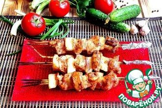 Рецепт: Куриные шашлычки с ананасом