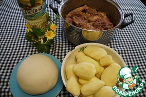 Prepare all ingredients ( nutria meat pre-marinated for 12 hours)