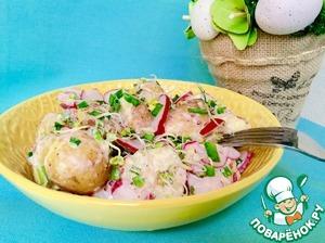Перемешиваем все компоненты нашего салатика и наслаждаемся!