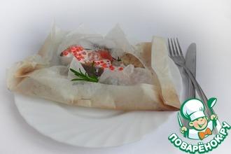 Рецепт: Форель в конверте с икорным соусом
