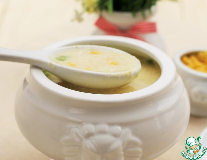 Рецепт: Яичный суп с кукурузой