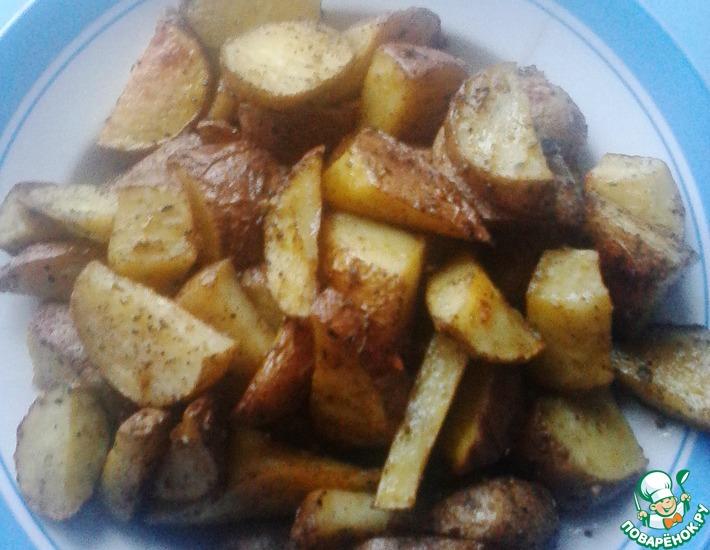 Рецепт: Картофель по-деревенски
