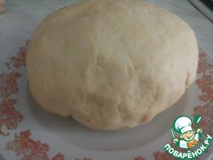 Завернуть тесто в пленку и отправить в холодильник на 2 часа.    Все, тесто готово. Оно получается очень пластичное и нелипкое.