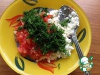 Закуска из помидоров и творога Весенние цветы ингредиенты