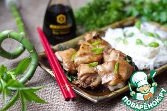 Рецепт: Курица на сковороде а-ля шашлык