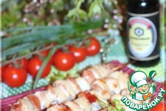 Рецепт: Шашлык из свинины с луком