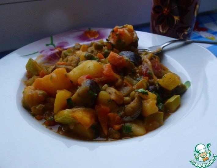 Рецепт: Рагу из овощей Домашнее