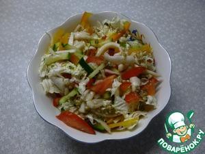 Рецепт Греческий салат с кальмарами