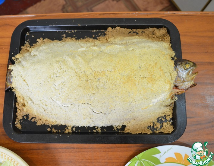 Рецепт: Форель, запеченная в соли