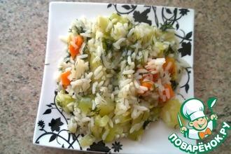 Рецепт: Постный плов с овощами в мультиварке