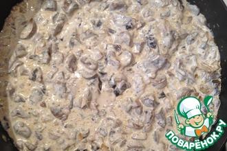 Рецепт: Почки телячьи с луком и грибами