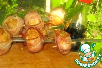 Рецепт: Шампиньоны на костре Паутинка