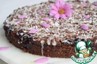 Рецепт: Шоколадно-вишнёвый пирог со штрейзелем