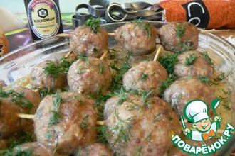 Рецепт: Шашлычок в духовке на картофельном кугеле