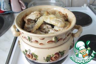 Рецепт: Курица в горшочке