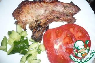 Рецепт: Шашлык свиной на кефире