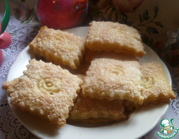 Рецепт: Домашнее слоеное печенье