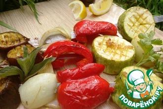 Рецепт: Овощной шашлык по-средиземноморски
