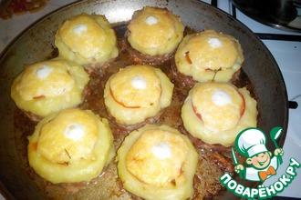 Рецепт: Котлеты нарядные с картофелем