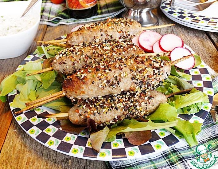 Рецепт: Кебабы из баранины в пряной панировке