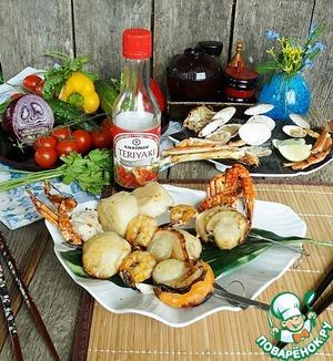 Рецепт Шашлык из морепродуктов с мёдом