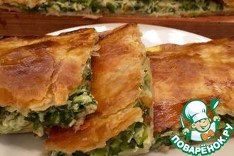 Рецепт: Пирог с зеленым луком
