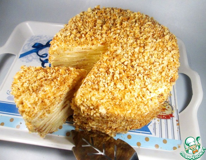 Рецепт: Творожный торт Наполеон