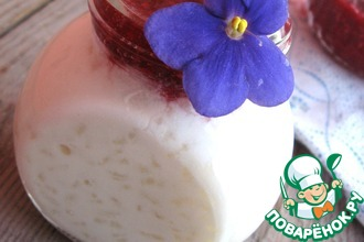 Рецепт: Рисовая каша с малиновым вареньем