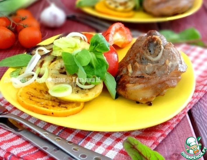 Рецепт: Индейка с овощами гриль