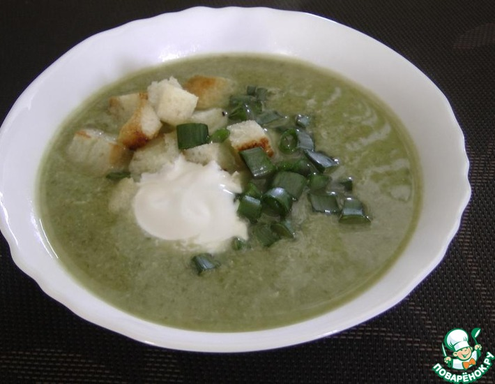 Рецепт: Зеленый суп