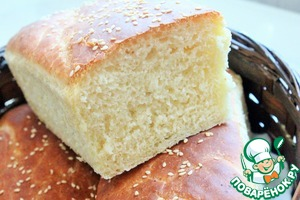 Рецепт Белый хлеб на сыворотке