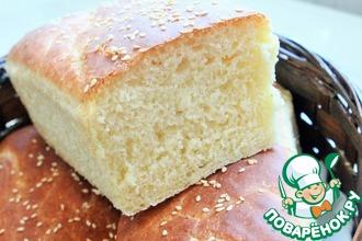 Рецепт: Белый хлеб на сыворотке