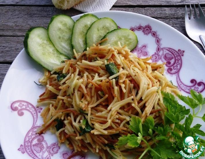 Рецепт: Вермишель Паутинка с зеленью