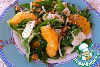 Рецепт: Салат со шпинатом и козьим сыром