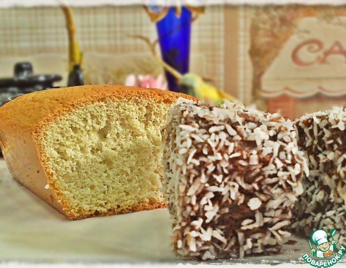 Рецепт: Пирожные из классического бисквита