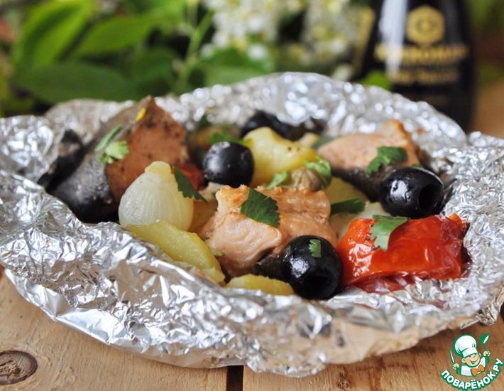 Рецепт: Рыбное рагу в фольге А-ля матлот
