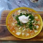 Суп из семги с перловкой
