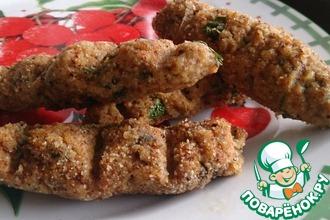 Рецепт: Куриные колбаски на шпажках в духовке